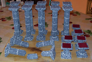 colonnes stands colonnes bris 233 es seiya myth cloth diorama vitrine decor ebay