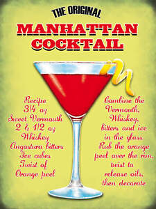 The-Manhattan-Cocktail-Pub-Bar-Restaurants-Small-Metal-Tin-Sign-Picture