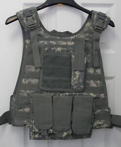 Military-Tactical-Modular-MOLLE-Plate-Carrier-Vest-ACU-Army-Digital-Camo