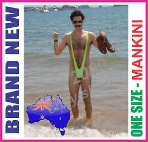 Sexy Borat Mankini Costume Swimsuit Mens Swimwear Thong