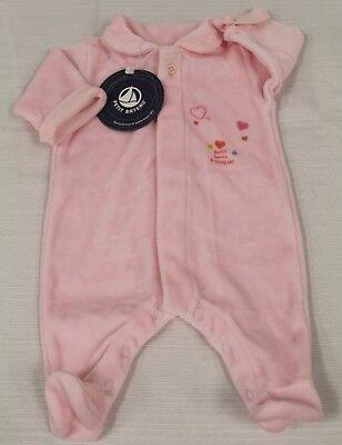 PETIT BATEAU Girl's Pink Outfit 72421 Newborn NEW $74
