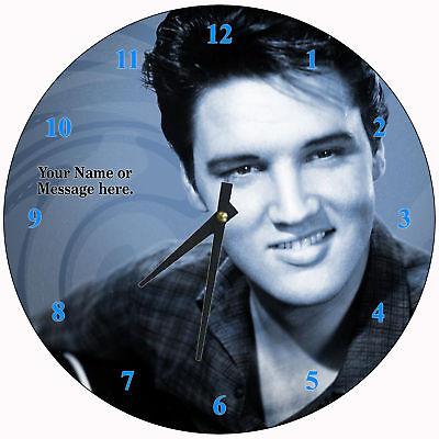 Personalized Elvis Presley Wall Clock