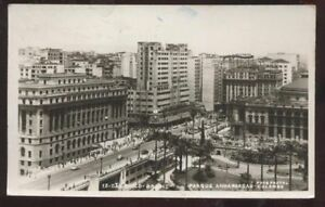 RP-Postcard-Sao-Paolo-BRAZIL-Town-Aerial-view-1940s