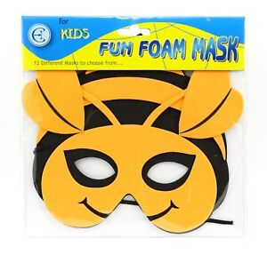 Childrens Fun Foam Fancy Dress Up Costume Party Animal Themed Face Masks