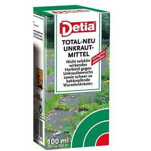 detia total neu unkrautmittel 100ml spritzmittel gegen unkraut ebay. Black Bedroom Furniture Sets. Home Design Ideas