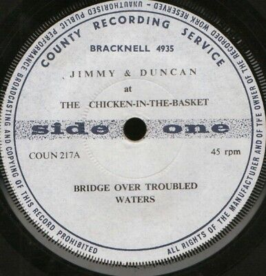 "JIMMY AND DUNCAN bridge over troubled waters 7"" WS EX/ uk"