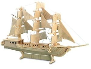 Q042 Build A Model Sailing Ship Wooden 3D Boat Kit 44cm