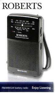 Roberts Sports 925 FM/MW/LW Portable 3 Band Battery Radio BRAND NEW