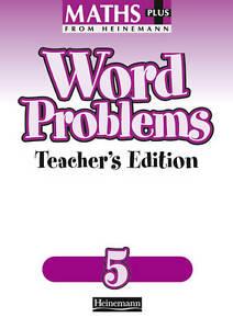 Maths Plus: Word Problems 5 - Teacher's Book, Good Condition Book, Frobisher, An