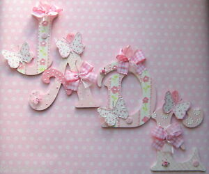 SHABBY* GIRLS  NAME LETTERS LAURA ASHLEY BUTTERFLIES