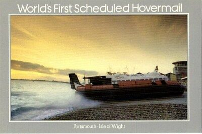 1981 WORLDS FIRST SCHEDULED HOVERMAIL SEPR 19 POSTCARD