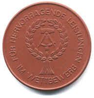 Ddr Medaglia Germania Est Concorso Prestazioni Eccezionali 1970 -  - ebay.it