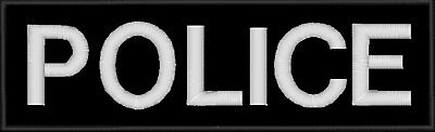 """POLICE - Large Embroidered Back Patch - 10"""""""