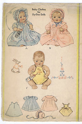 """353 Vintage Chubby Baby Doll Pattern - Size 13"""" - Year 1939"""