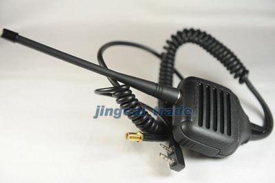 Microfono Altoparlante per Kenwood puxing wouxun Baofeng QUANSHENG RADIO ANTENNA