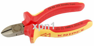 Knipex 70 08 125 VDE Fully Insulated Diagonal Side Cutters 125mm - Draper 32020