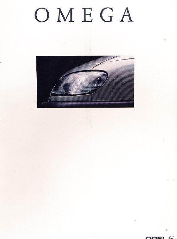 1994 Opel Omega Dutch Sales Brochure Prospekt