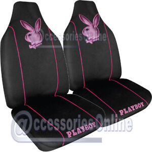PLAYBOY CAR SEAT COVERS METALLIC PINK  *NEW*
