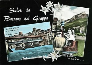 034-BASSANO-del-Grappa-VC-Saluti-con-due-vedute-034-Periodo-fine-anni-50