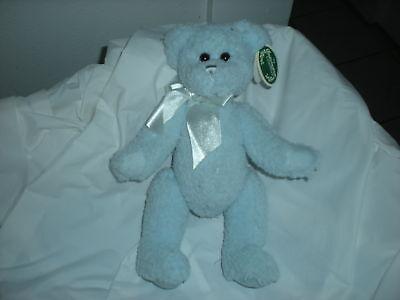 Bearington Collection Blue Bear Plush Lovey Baby