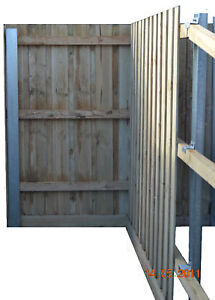 Treated Pine STEEL POST Fence Package 1.95 - (6'4