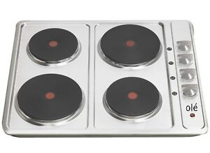 Ole-60cm-600mm-Stainless-Steel-Hot-Plate-Electric-Cooktop-HBE0422A