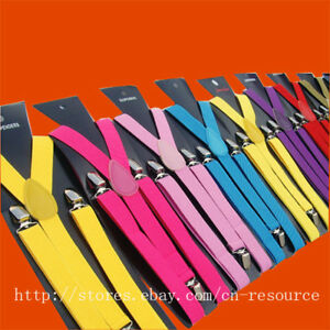 Unisex-Clip-on-Braces-Elastic-Y-back-Suspenders