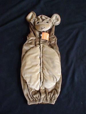 Gymboree Halloween Monkey Costume Hooded Vest 0 3