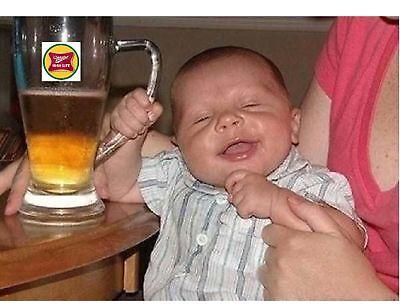 Miller Time Beer Baby Mug Funny Refrigerator / Tool Box Magnet Man Cave