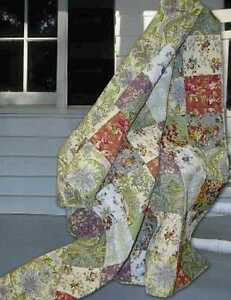 French-Country-Cottage-Tuscany-Patchwork-QUEEN-QUILT-Shams-Set-3PC-Farmhouse