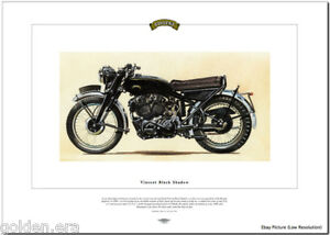 VINCENT BLACK SHADOW - Motorcycle Fine Art Print 1000cc