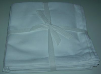 Qvc Pure Cotton Napkins 16x16 Set Of 8 Square White Napkins Washable