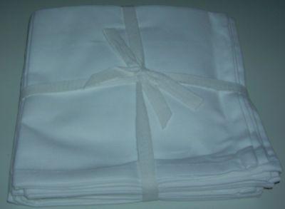 Qvc Pure Cotton Napkins 16x16 Set Of 8 Square White Napkins Washable