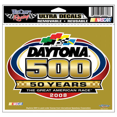 Nascar Daytona 500 50 Years 2008 Ultra Decal 6 X 4 1/2