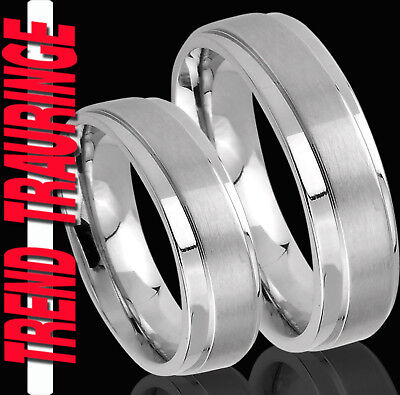 2 Verlobungsringe Eheringe inkl. GRAVUR GRATIS Trauringe , Partner Ringe *  TE19