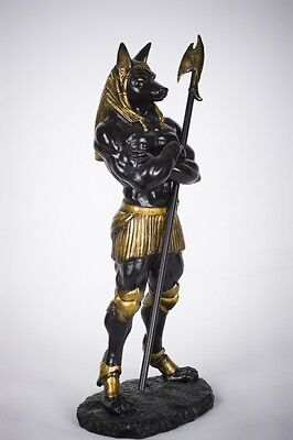 Egyptian Dark Lord Anubis Statue God of the Dead Mummification Deity on Rummage