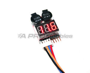 ULTRASONIC-1-8S-LIPO-Battery-Low-Voltage-ALARM-METER-w-Adjustable-Voltage
