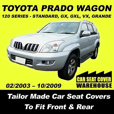 Car Seat Covers To Fit Toyota Prado 120 Series Front & Middle & Rear 2002 -2009