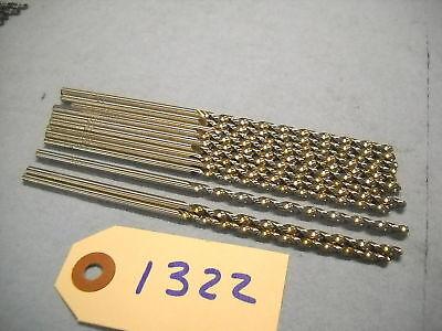 12 Trw Taper Length Drills 28 .1405 Hss Usa 1322