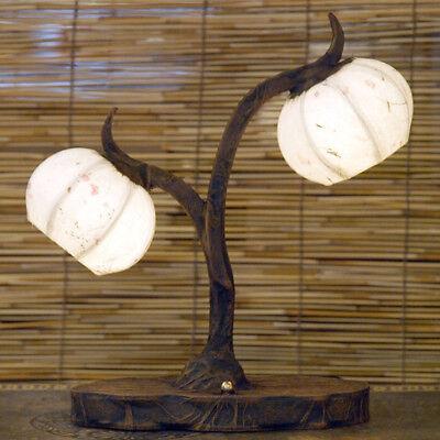 White Rice Paper Ball Shade Lantern Flower Bedside Table Decor Desk Accent Lamp