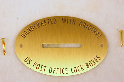 Lot Of 5 Brass Coin Slots For Post Office Box Door Banks