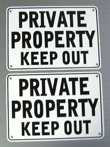 PRIVATE-PROPERTY-KEEP-OUT-WARNING-2-SIGN-SET-METAL