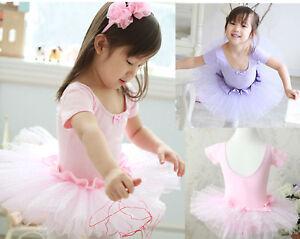 2Color-Girl-New-Party-Leotard-Ballet-Tutu-Dress-Costume