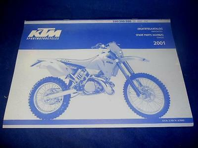 KTM Spare Parts Manual Chassis 2001 250 300 380 SX MXC