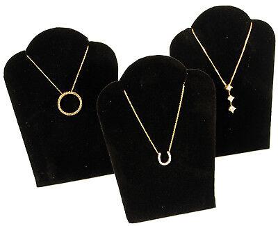 3 Black Velvet Pendant Necklace Jewelry Display 5