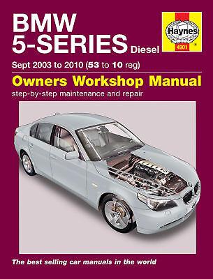 BMW 5-Series 520 525 530 E60 Diesel 03-10 Haynes Manual