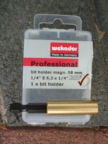 wekador magnetic  brass bit holder 58mm