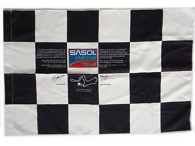 Sasol Jordan Yamaha Formula 1 F1 Kyalami Chequered Flag