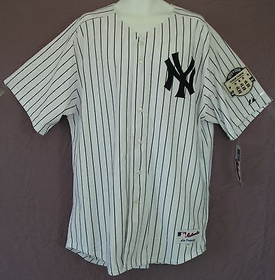 Special Ed-majestic York Yankees Onfield Baseball Jersey Shirtmen Sz 52/2xl