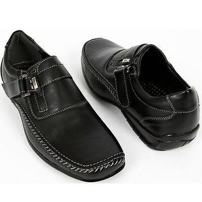Mens Band Loafers Casual Sneakers Shoes Black US 9.5
